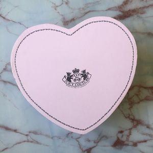 Juicy Couture Keepsake Pink Brown Dot Heart Box
